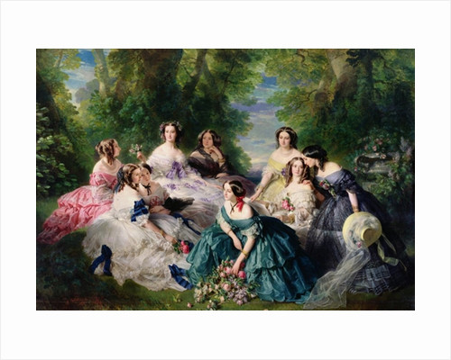 Empress Eugenie Surrounded by her Ladies-in-Waiting by Franz Xaver Winterhalter