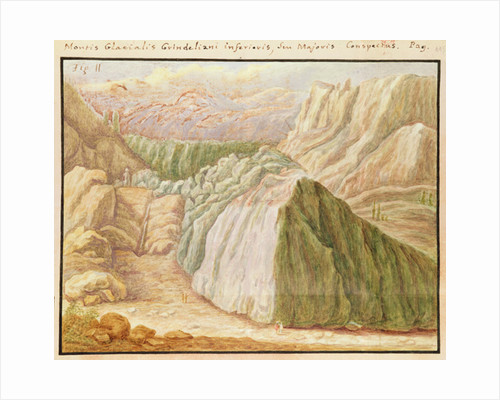 Ms 1798 fol.115 Grindelwald Glacier in the Alps by Jean Jacques Scheuchzer