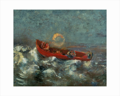 The Red Boat by Odilon Redon