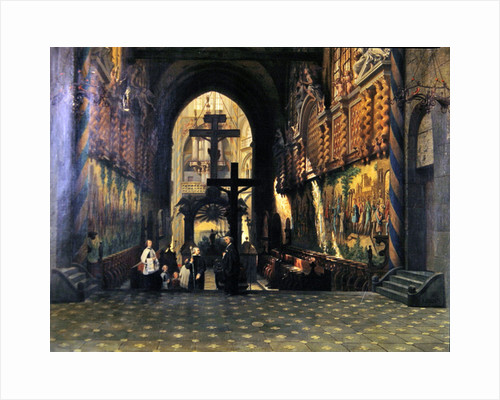 Interior of the Church of Saint Gereon at Cologne by Adrien Dauzats