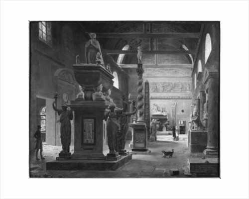 The great room of the Musee des Monuments Francais by Jean Lubin Vauzelle