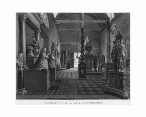 First view of the introductory room, Musee des Monuments Francais, Paris by Jean Lubin Vauzelle