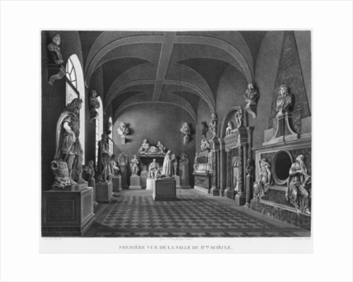 First view of the 17th century room, Musee des Monuments Francais, Paris by Jean Lubin Vauzelle