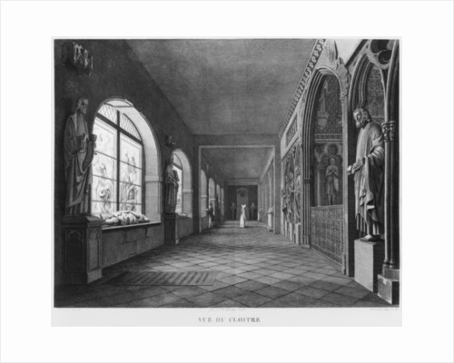 View of the cloister, Musee des Monuments Francais, Paris by Jean Lubin Vauzelle