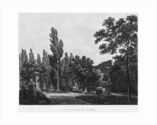 Garden of the cloister, Musee des Monuments Francais, Paris by Jean Lubin Vauzelle
