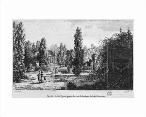 Musee des Monuments Francais, Paris, view of the Jardin Elysee from the tomb of Rene Descartes by Alexandre Marie Lenoir