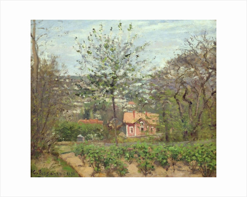 The Cottage, or the Pink House - Hamlet of the Flying Heart by Camille Pissarro