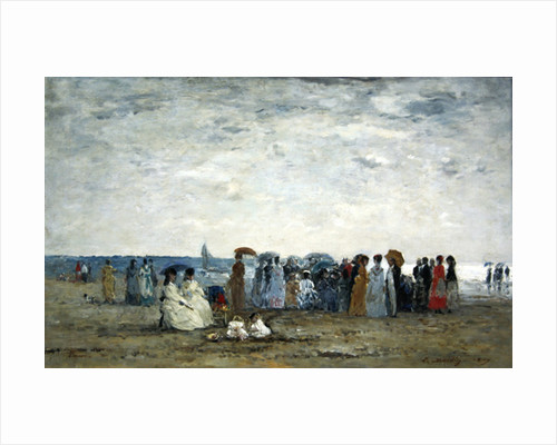 Swimmers on Trouville beach by Eugene Louis Boudin