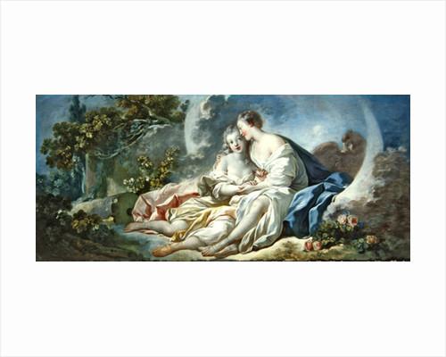 Jupiter disguised as Diana tries to seduce Callisto by Jean-Honore Fragonard