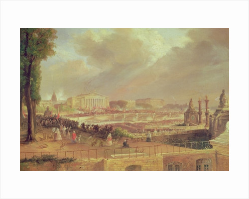 Proclamation of the Second French Republic, Place de la Concorde by Jean-Jacques Champin