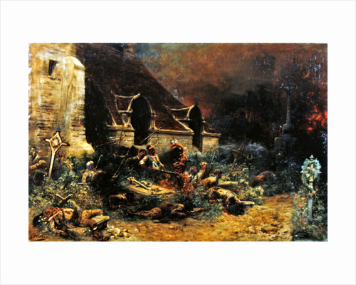 The Chouans defending their dead by Georges Clairin