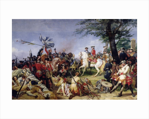 The Battle of Fontenoy, 11th May 1745 by Emile Jean Horace Vernet