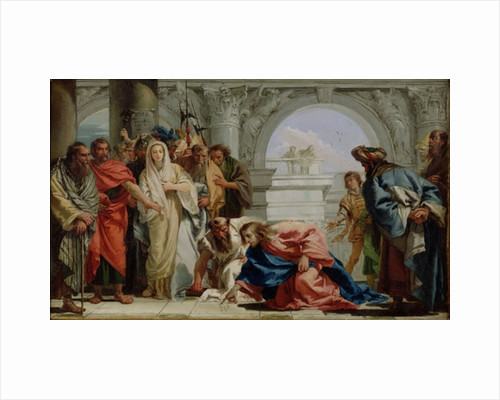 Christ and the Woman Taken in Adultery by Giandomenico Tiepolo