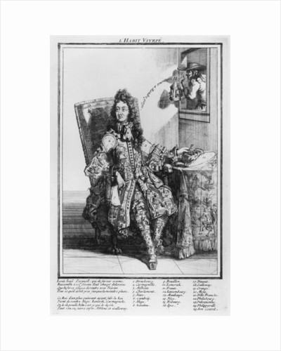 Satirical cartoon lampooning Louis XIV by French School