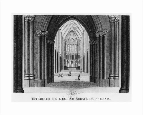 Basilica Saint-Denis, interior view by Louis Francois Couche