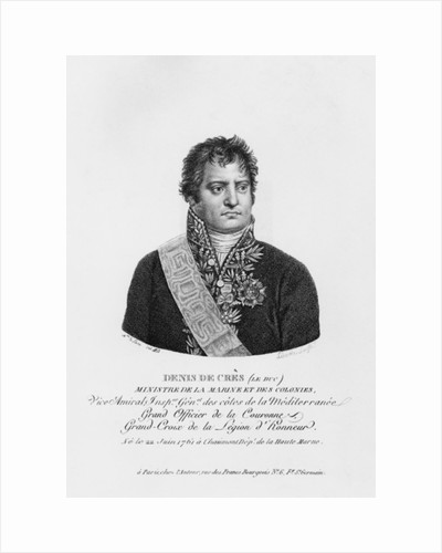 Denis Decres, Minister of Marine and the Colonies by Justine Le Suire
