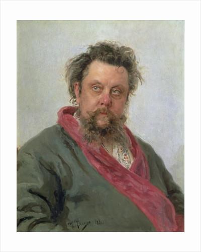 Portrait of Modest Petrovich Moussorgsky by Ilya Efimovich Repin