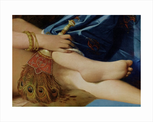 Detail of The Grand Odalisque by Jean Auguste Dominique Ingres