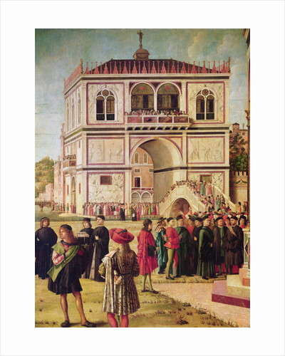 Detail of the Return of the English Ambassadors by Vittore Carpaccio