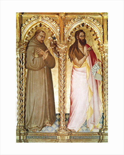 St. Francis of Assisi and St. John the Baptist by Giovanni del Biondo dal Casentino
