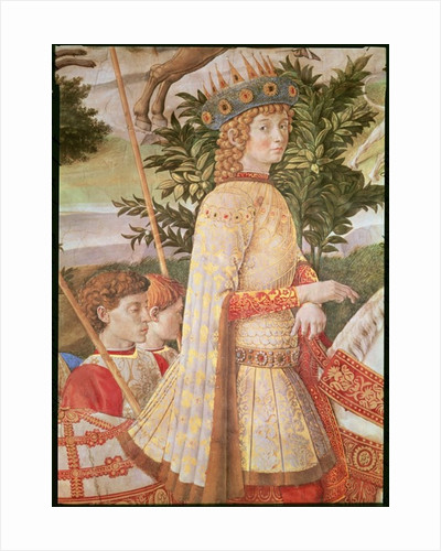 The Procession of the Magi, the procession led by Lorenzo the Magnificent in the guise of the Magus Caspar by Benozzo di Lese di Sandro Gozzoli