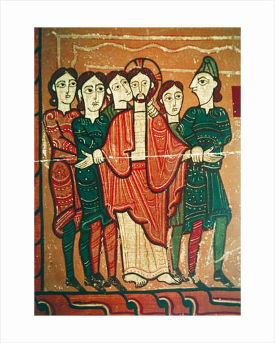 Altarpiece panel showing Christ's Arrest by Spanish School