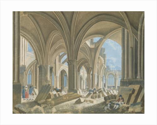 Demolition of the Church of Saint-Jean-en-Greve by Pierre Antoine Demachy