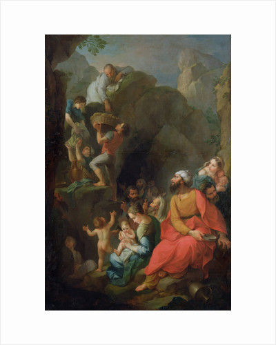 Tobit escaping captivity with his companions by Pierre Parrocel