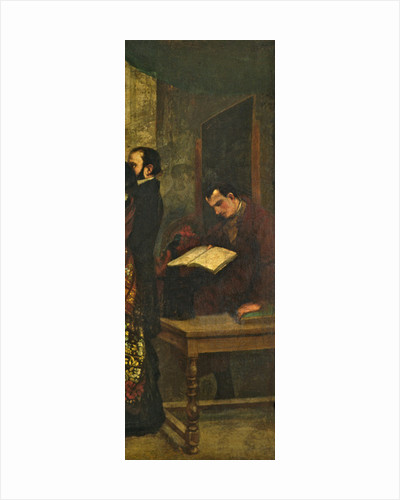 Baudelaire reading a book by Gustave Courbet