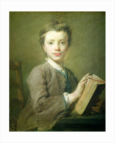 A Boy with a Book by Jean-Baptiste Perronneau