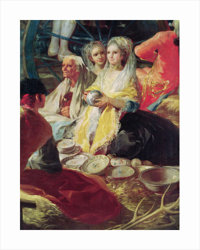 Ladies buying pottery at a stall in Madrid by Francisco Jose de Goya y Lucientes