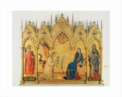 The Annunciation with two saints and four prophets, 1333 by Simone & Lippo Martini Memmi