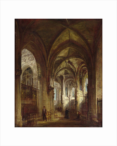 Interior of the Church of St. Pierre, Caen by Francois d' Herbes