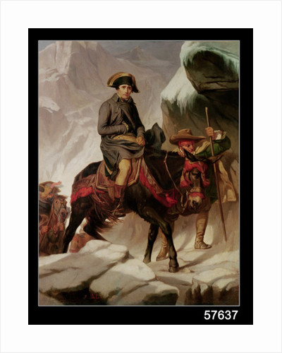 Napoleon Bonaparte Crossing the Alps by Hippolyte Delaroche