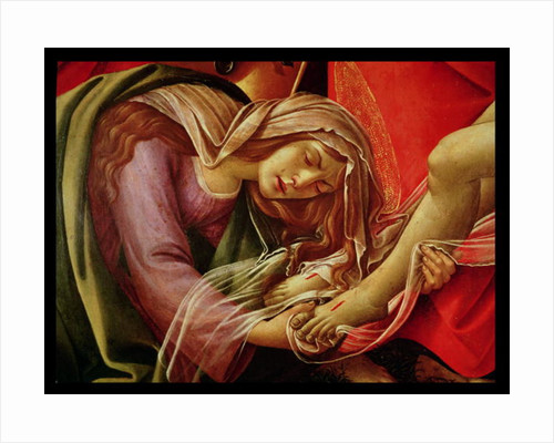The Lamentation of Christ, detail of Mary Magdalene and the Feet of Christ by Sandro Botticelli