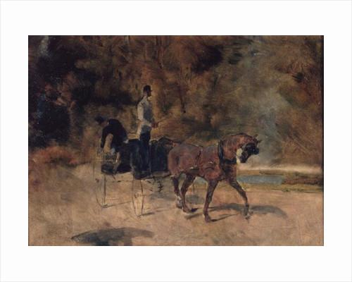 A Dog-Cart by Henri de Toulouse-Lautrec