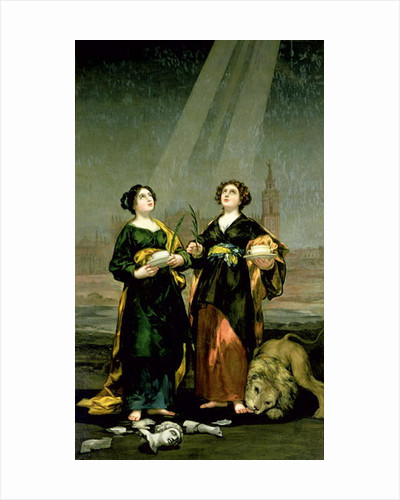 St. Justina and St. Rufina by Francisco Jose de Goya y Lucientes