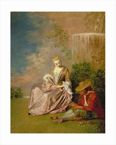 The Shy Lover by Jean Antoine Watteau