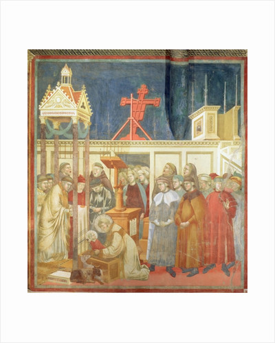St. Francis of Assisi Preparing the Christmas Crib at Grecchio by Giotto di Bondone
