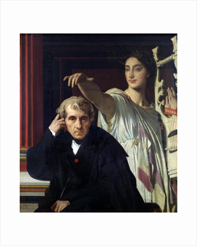 Portrait of the Italian Composer Cherubini and the Muse of Lyrical Poetry by Jean Auguste Dominique Ingres