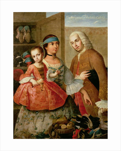 A Spaniard and his Mexican Indian Wife and their Child by Miguel Cabrera