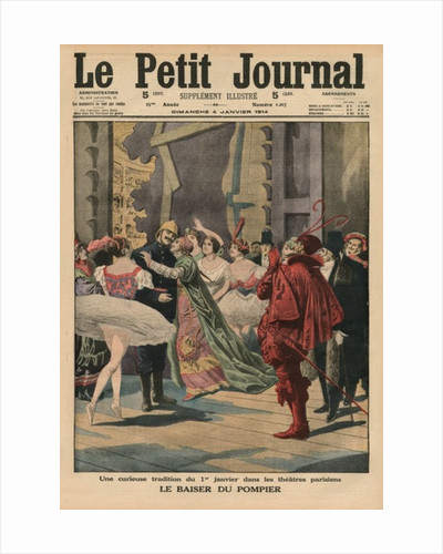 An odd tradition of the 1st January in the Parisian theatres, the 'Fireman Kiss' by French School