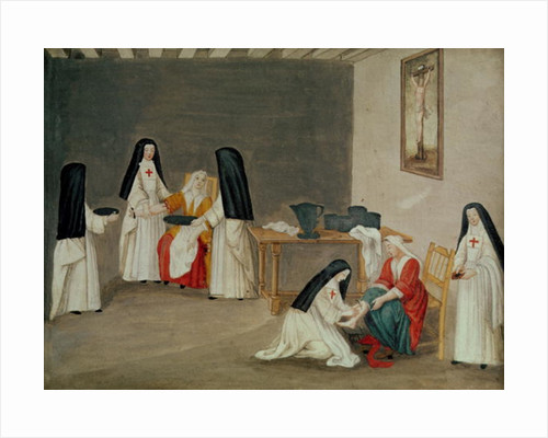 Caring for the Sick, from 'L'Abbaye de Port-Royal', c.1710 by Louise Madelaine after Cochin