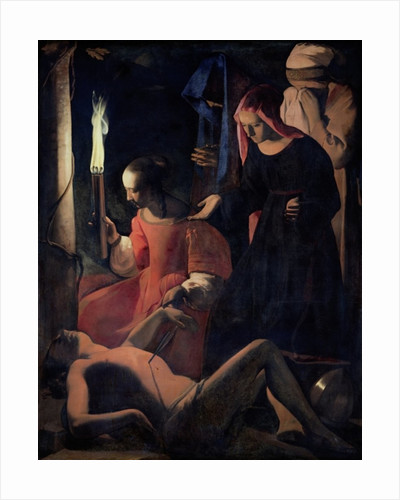 St. Sebastian Tended by St. Irene by Georges de la Tour