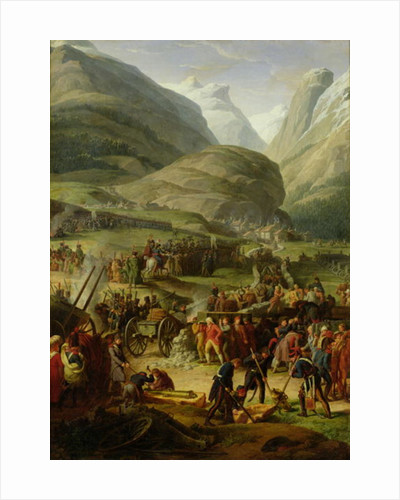 The French Army Travelling over the St. Bernard Pass at Bourg St. Pierre by Charles Thevenin