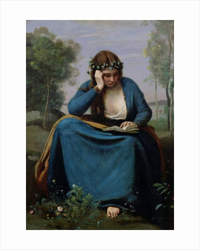 The Reader Crowned with Flowers, or Virgil's Muse by Jean Baptiste Camille Corot
