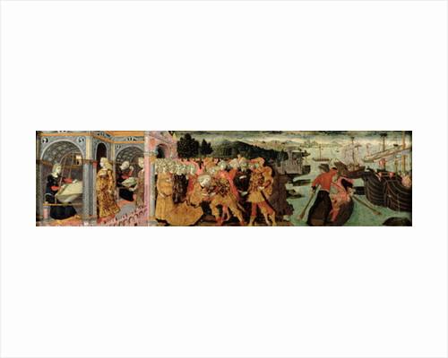 The Return of Ulysses, cassone panel, Sienese by Italian School