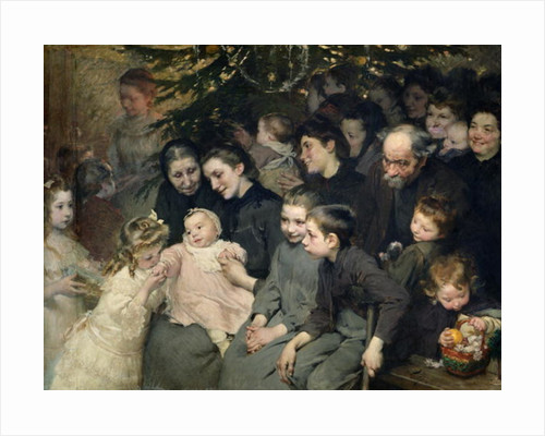 The Drop of Milk in Belleville: The Christmas Tree at the Dispensary by Henri Jules Jean Geoffroy