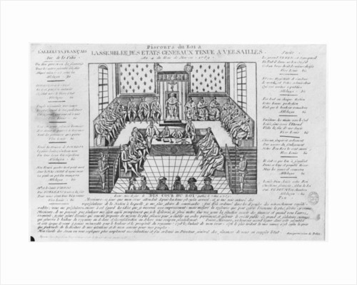 Estates General Posters Prints. Speech Of King Louis Xvi At The Opening Estates General In Versailles By French. Wiring. 1789 Estates General Diagram At Scoala.co