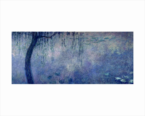 Waterlilies: Two Weeping Willows, left section by Claude Monet